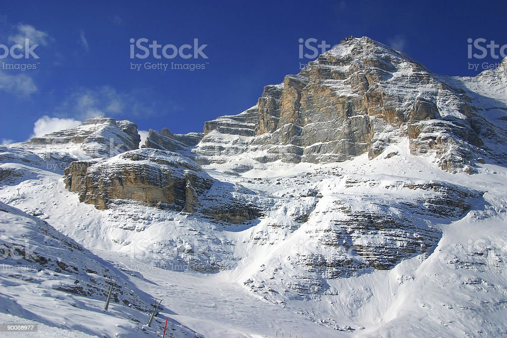 the ski area stock photo