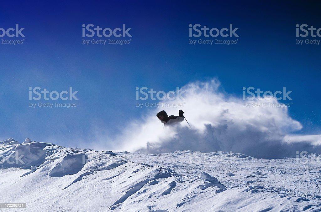 The skier. royalty-free stock photo