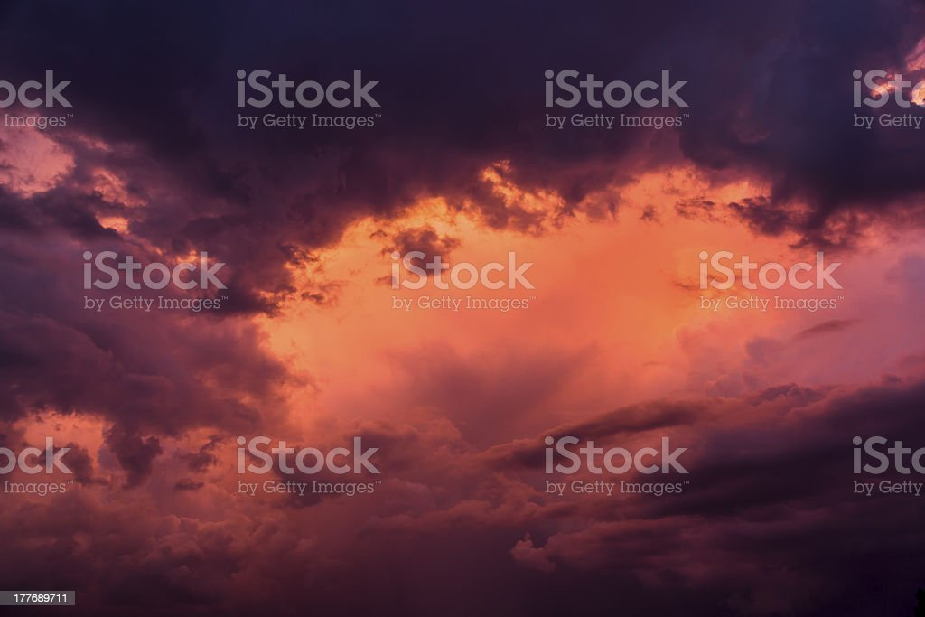 The sky at sunset royalty-free stock photo