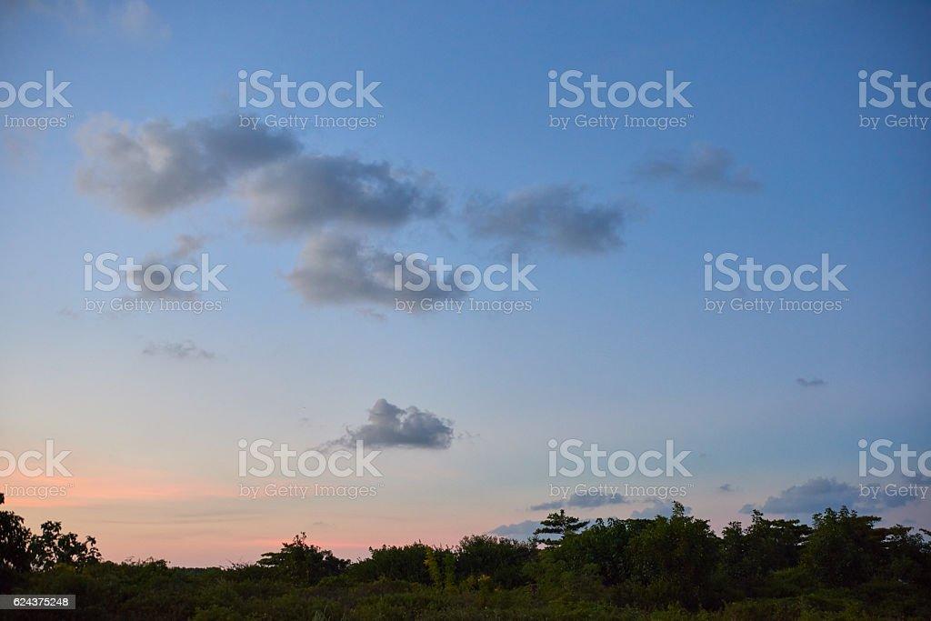 Il cielo al tramonto foto stock royalty-free