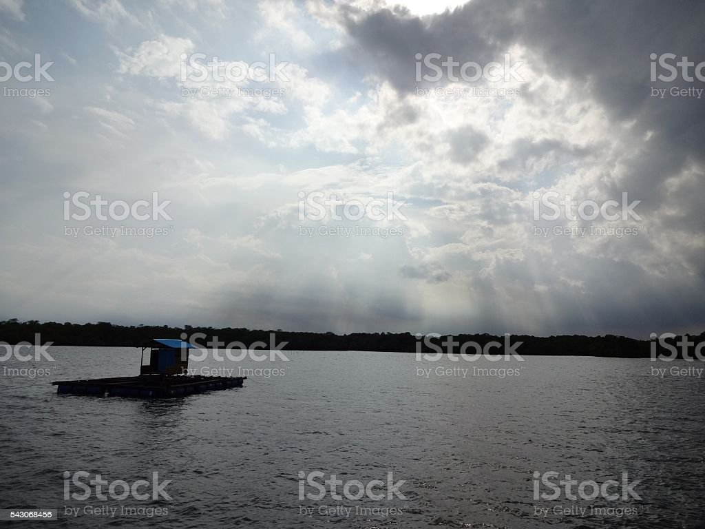 The sky began to clear stock photo