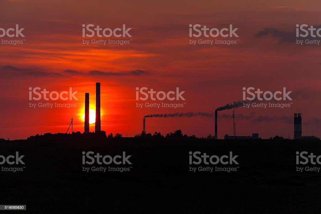 the sky during sunset stock photo