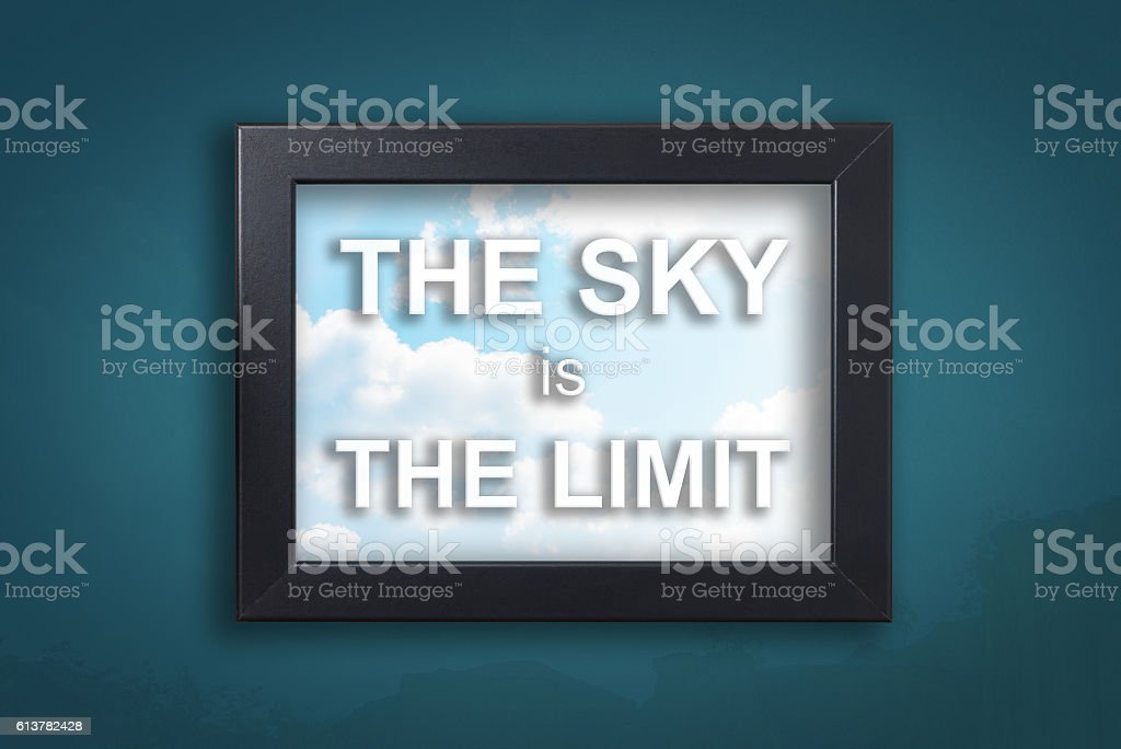 The sky is the limit in background sky frame stock photo