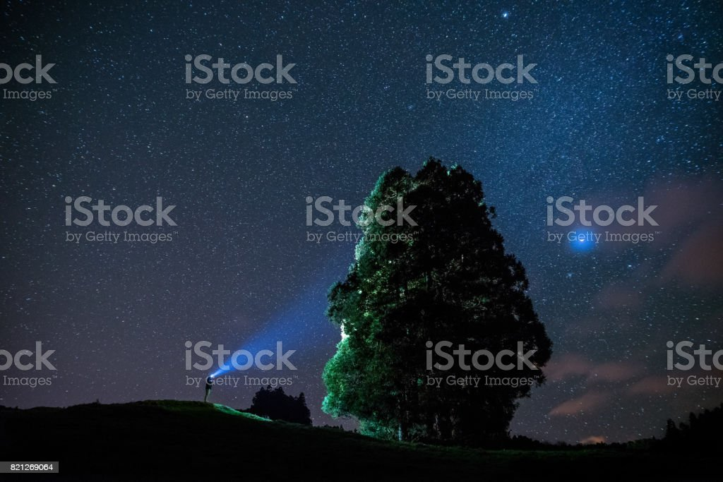 The Sky Painter stock photo