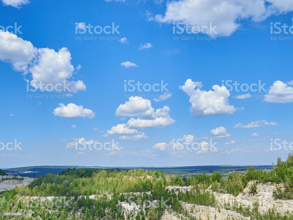 The sky with clouds stock photo
