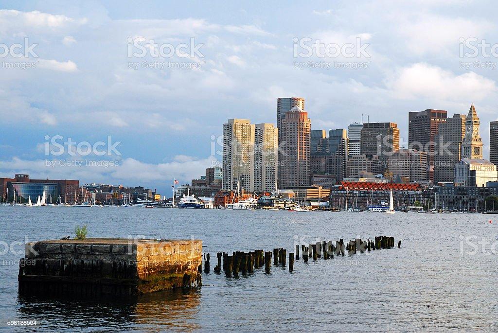The Skyline of Boston stock photo