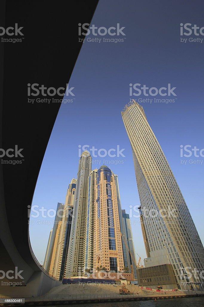 los edificios de la ciudad de dubai emiratos rabes unidos foto de stock libre de