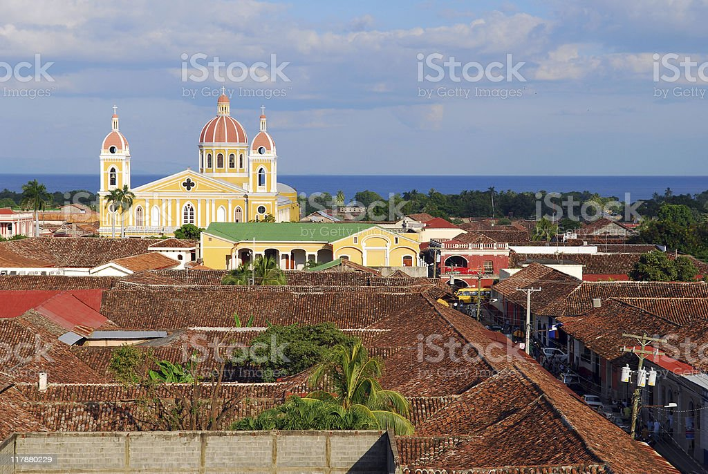 Granada Church in Nicragua royalty-free stock photo