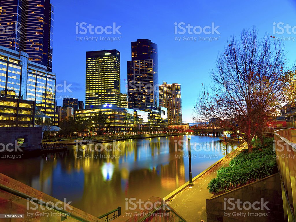 The skyline of Melbourne royalty-free stock photo