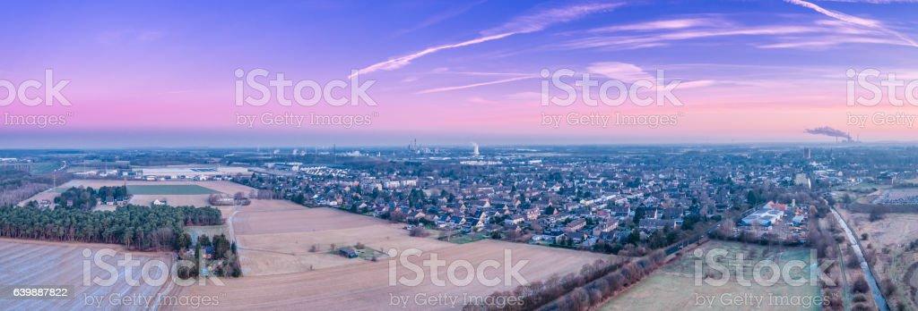 The skyline of Rheinberg in Germany stock photo
