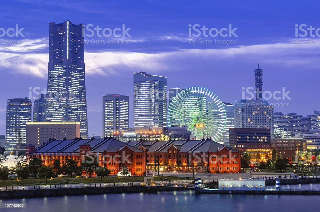 The Skyline of Yokohama stock photo