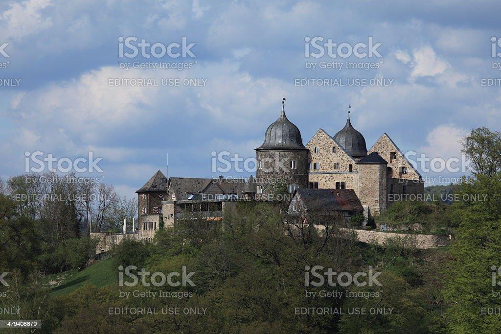 The Sleeping Beauty Castle Sababurg stock photo