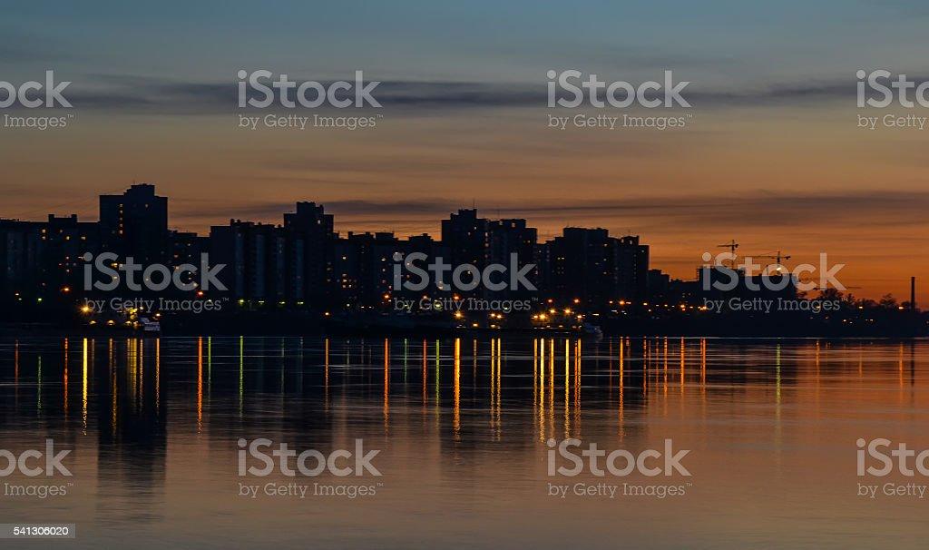 The sleeping city. stock photo