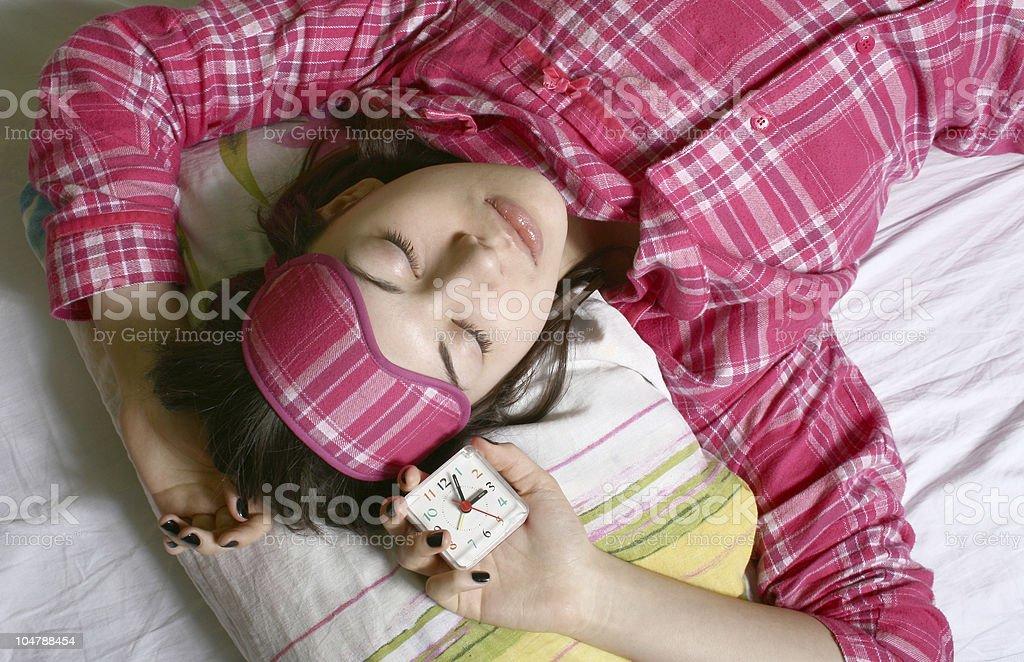 The sleeping girl. royalty-free stock photo