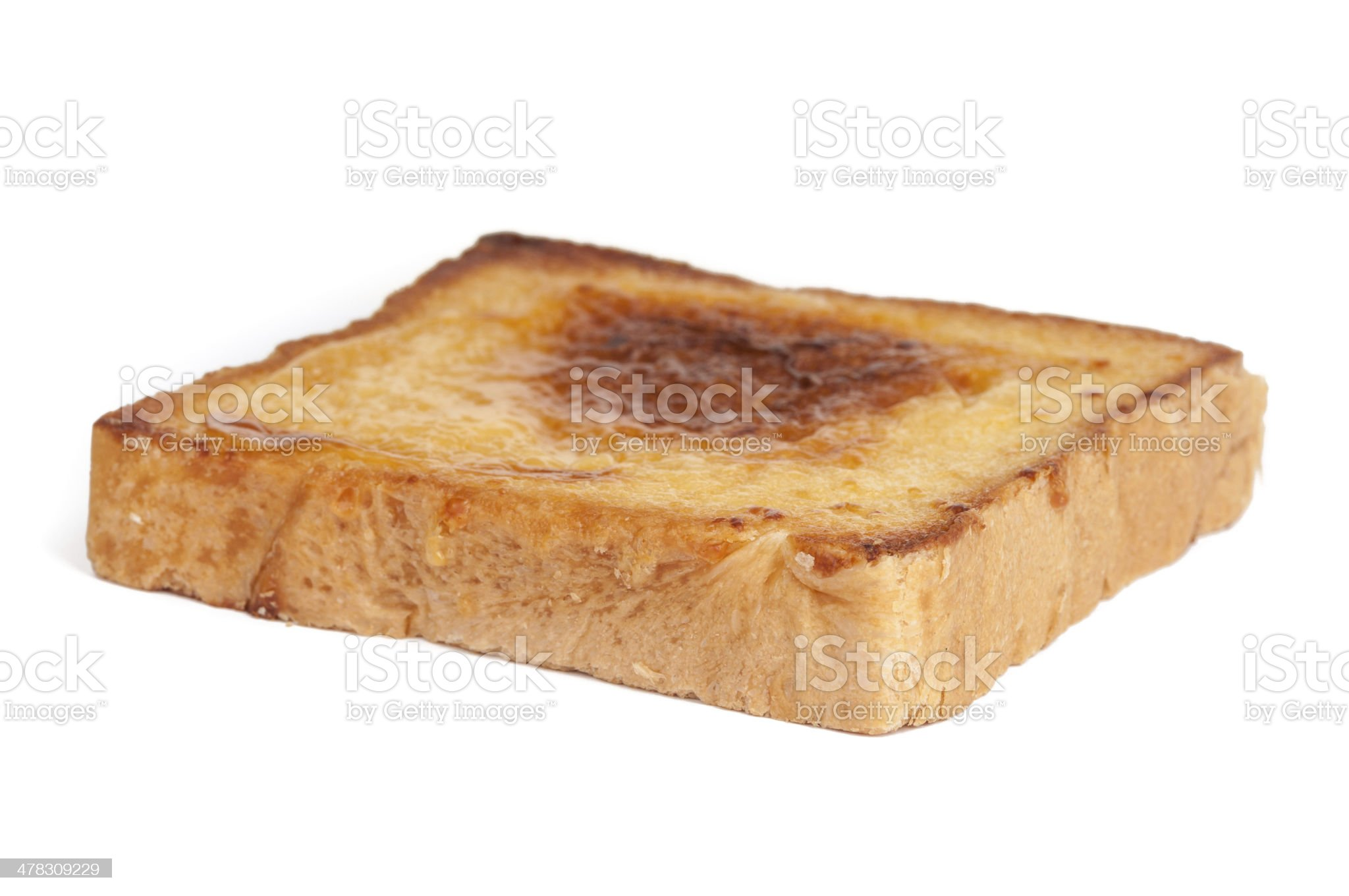 the slice of bread royalty-free stock photo