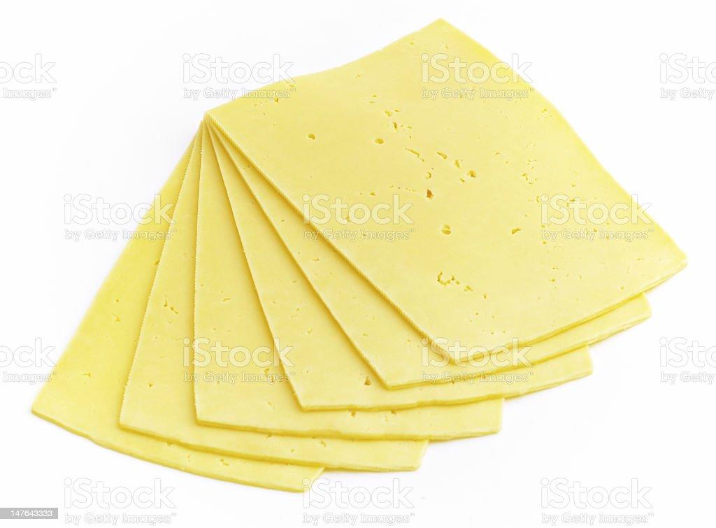 the slices of gouda stock photo