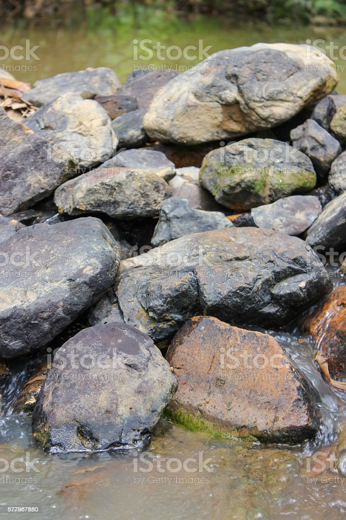 The small dam, stone stock photo