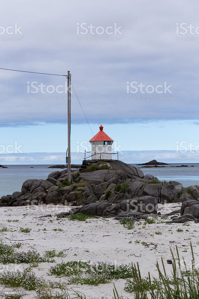 The small light house royalty-free stock photo