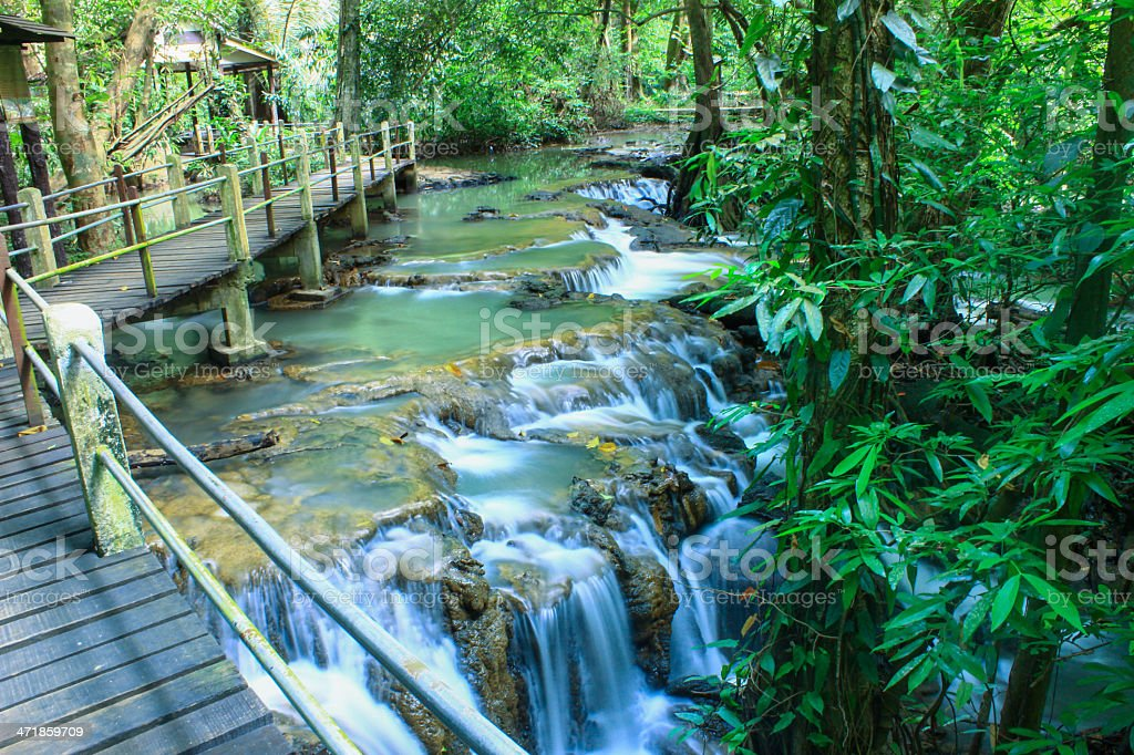 The small waterfall and rocks, Thailand royalty-free stock photo