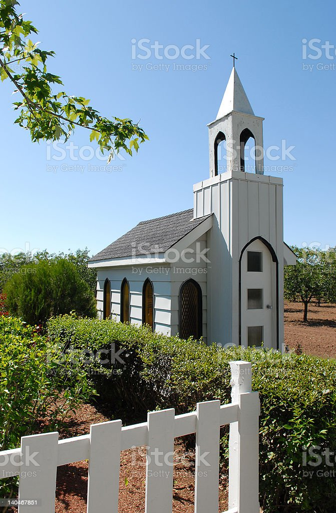 The smallest church royalty-free stock photo