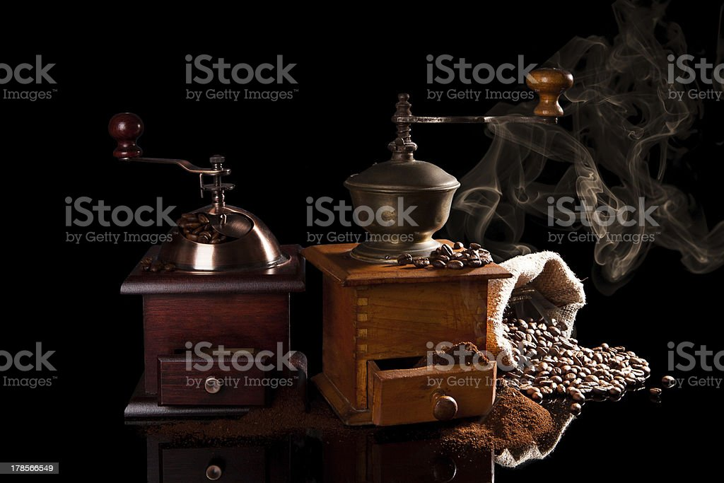 The smell of coffee. royalty-free stock photo