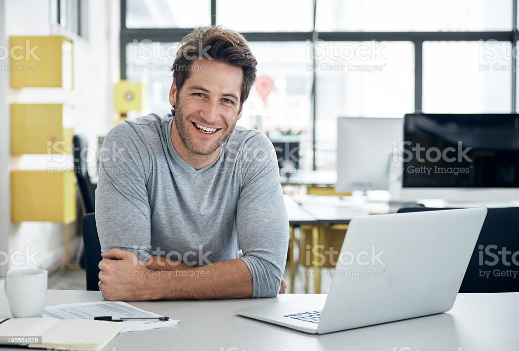 The smile of success stock photo