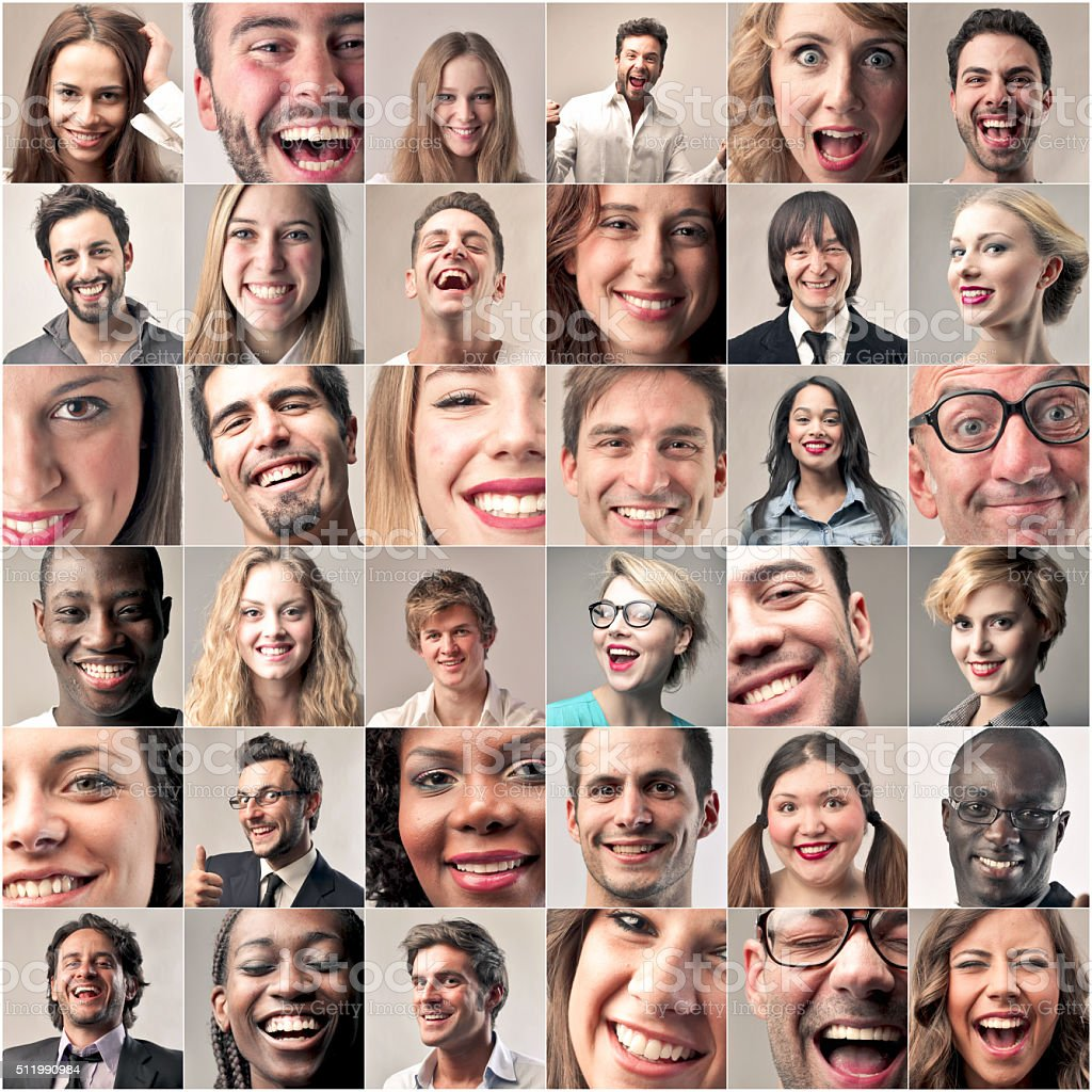 The Smile of The People stock photo