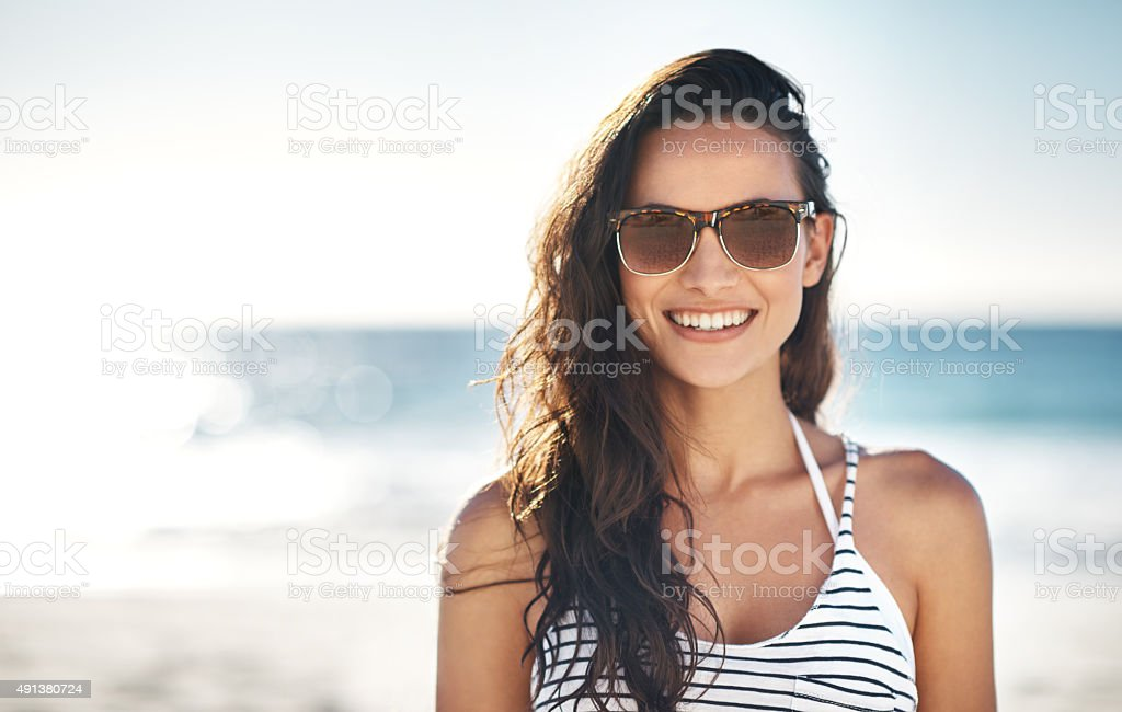 The smile that only summer can bring stock photo