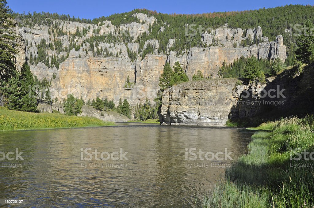 The Smith River at canyon Depth stock photo