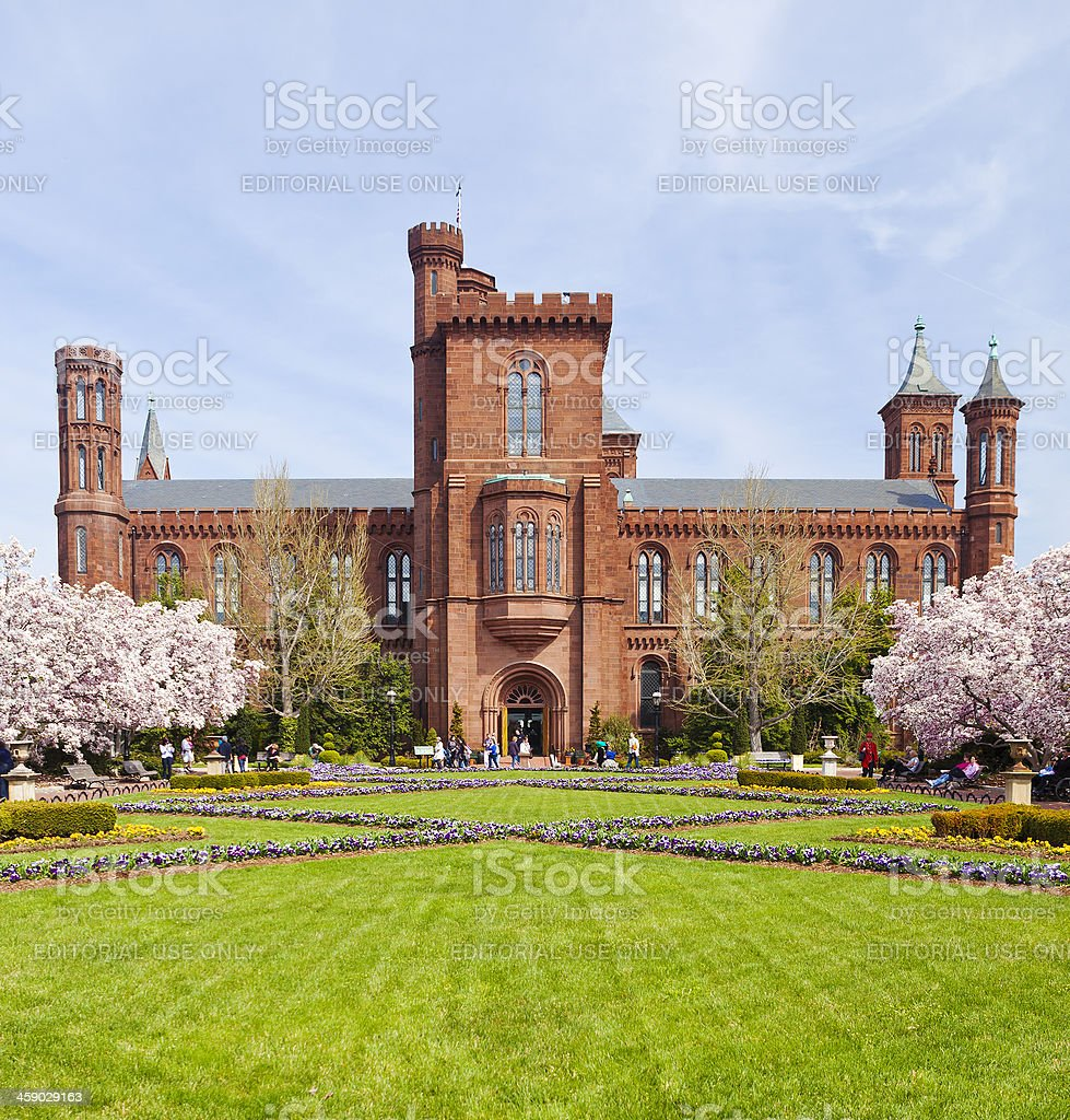 The Smithsonian Castle In Washington DC. royalty-free stock photo