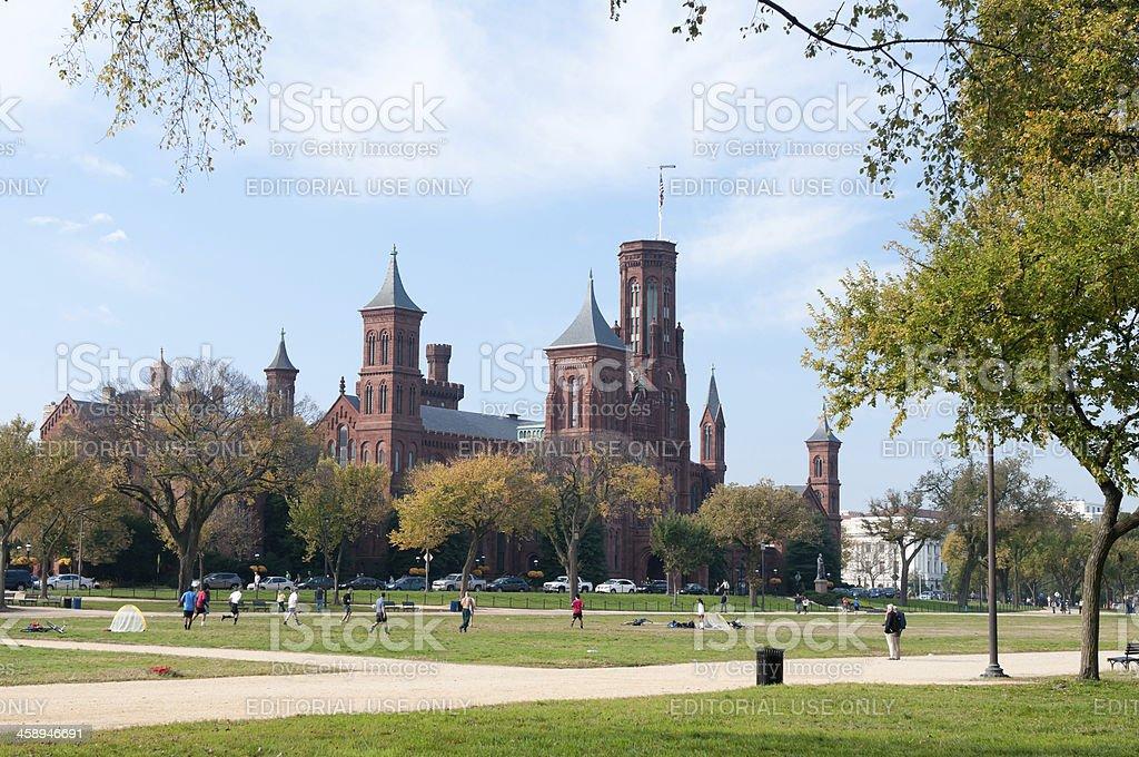 'The Smithsonian Institution in Washington, DC' stock photo
