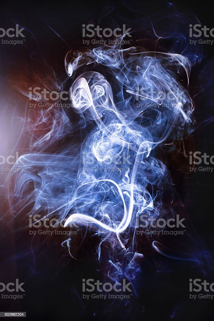 The smoke ghost stock photo