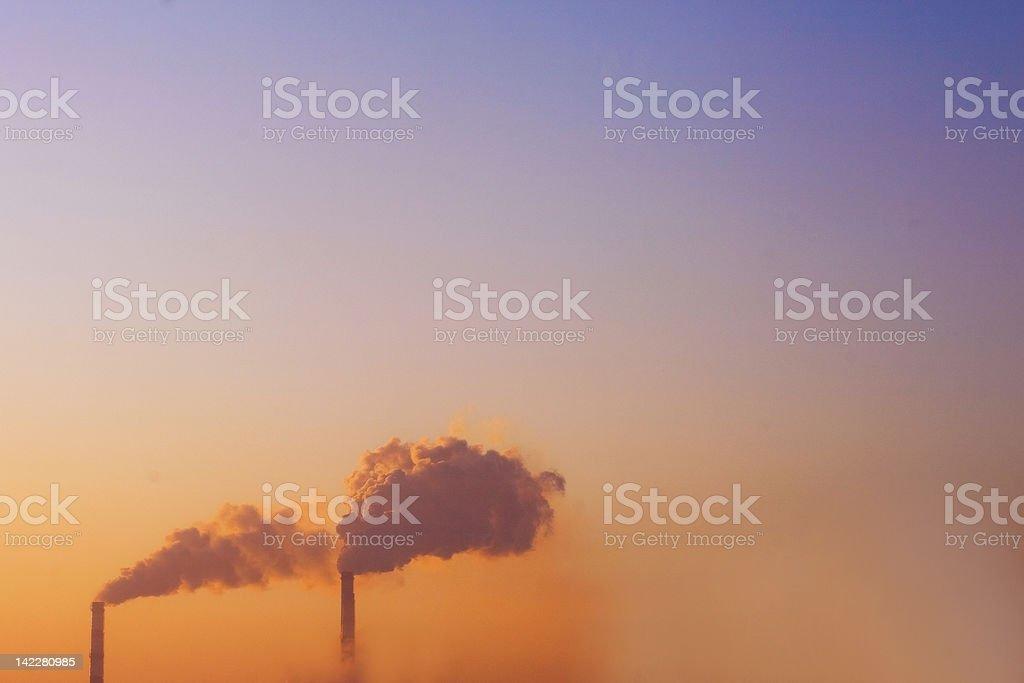 the smoke royalty-free stock photo