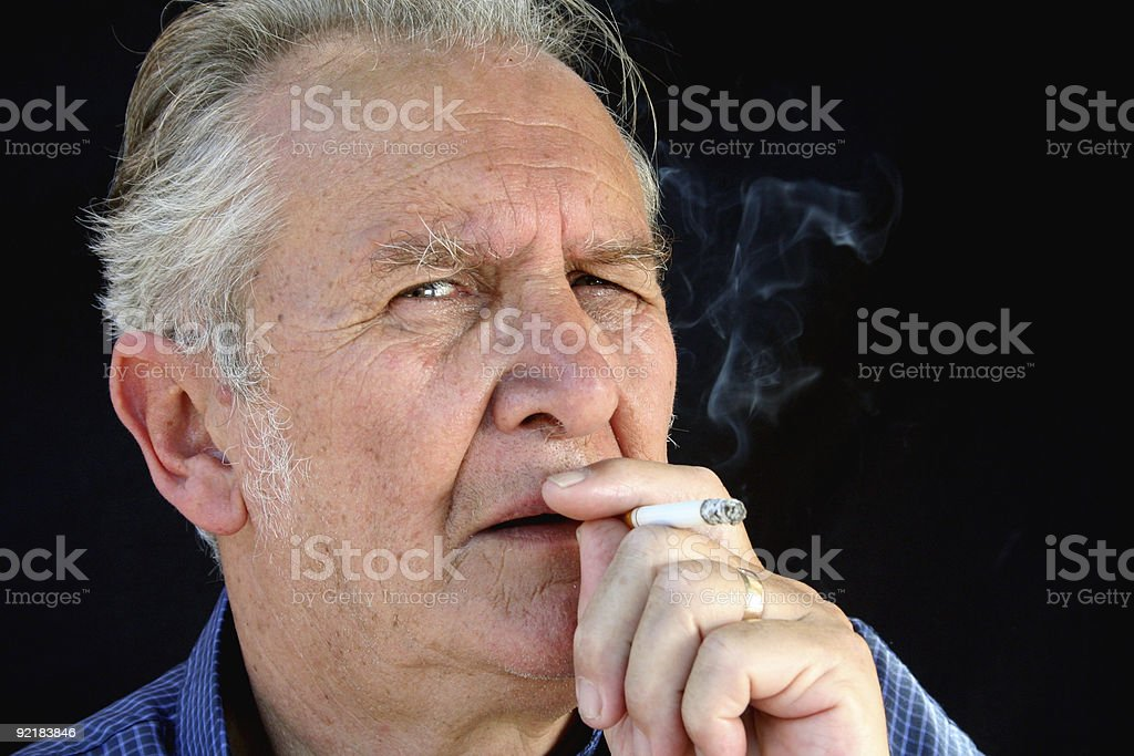 The Smoker 1 royalty-free stock photo