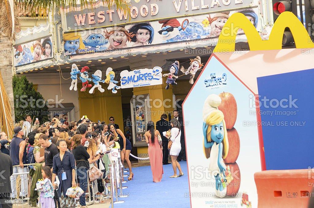 'The Smurfs 2' Film World Premiere royalty-free stock photo