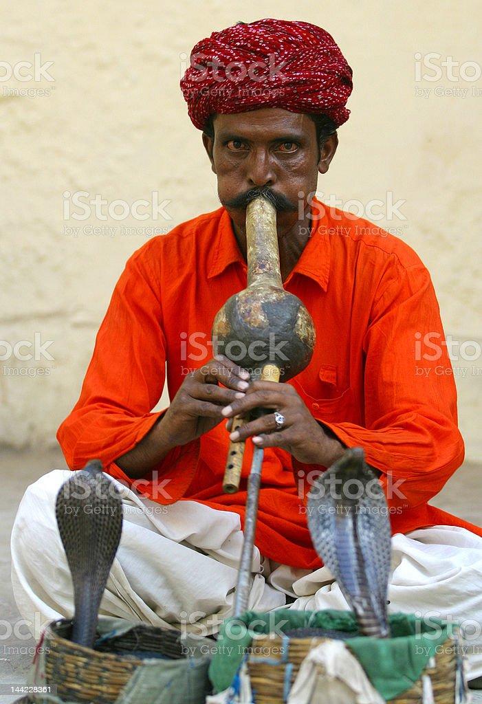 The Snake Charmer stock photo