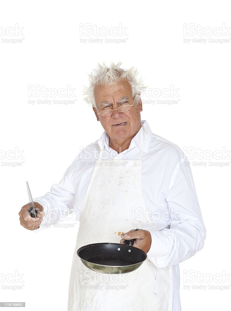 The sneered cook. royalty-free stock photo