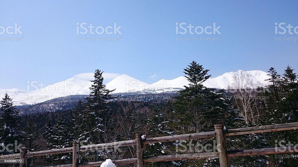 As Montanhas NevadasComment de Hokkaido foto de stock royalty-free