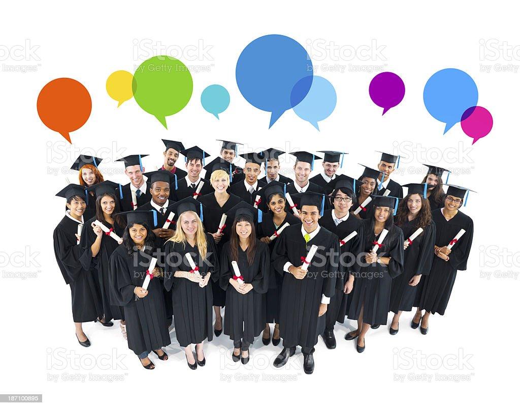 The Social Media Of Graduation royalty-free stock photo