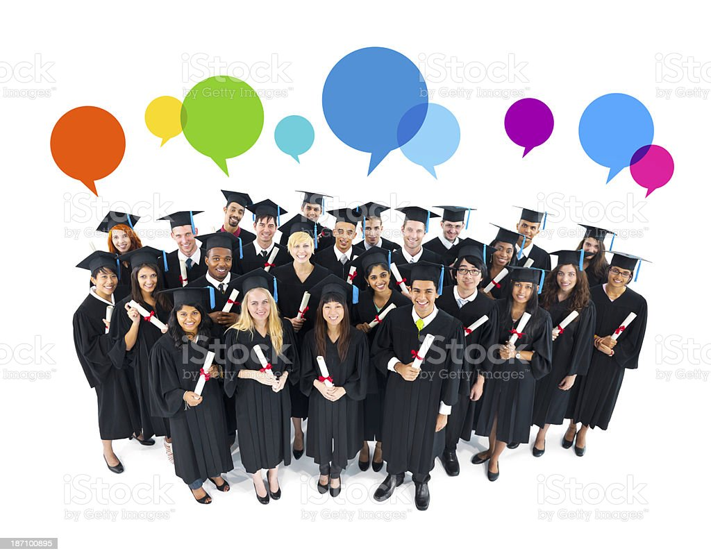 The Social Media Of Graduation stock photo