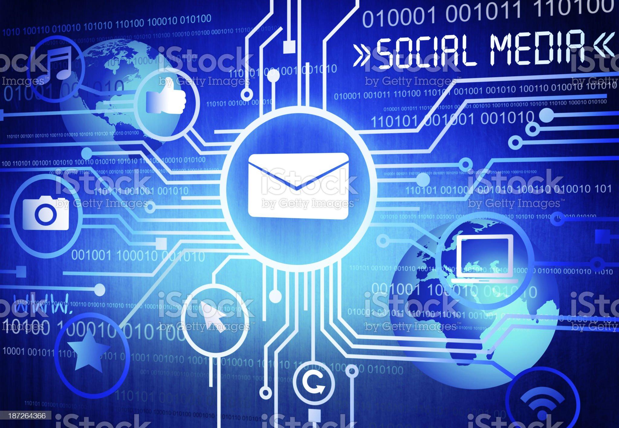The Social Media royalty-free stock photo
