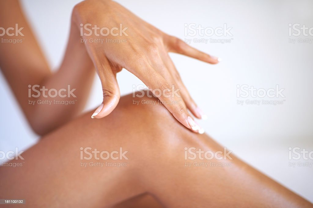 The softest caress stock photo