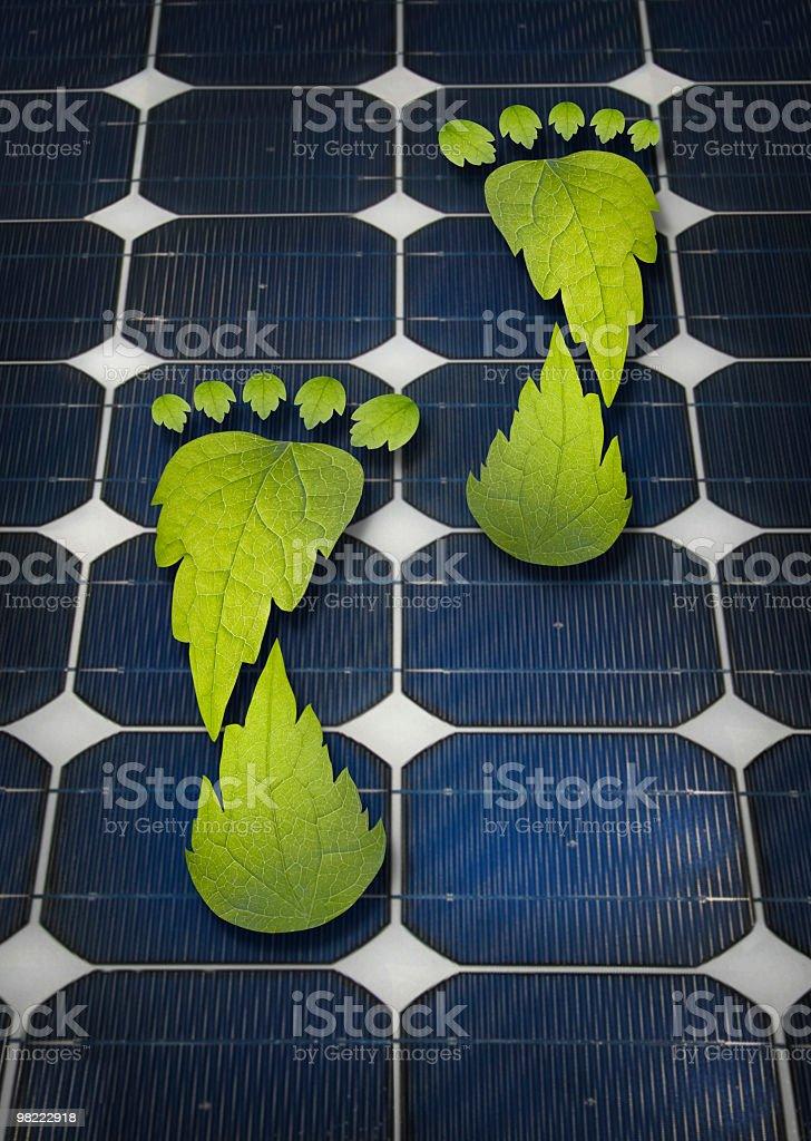 the solar footprint royalty-free stock photo
