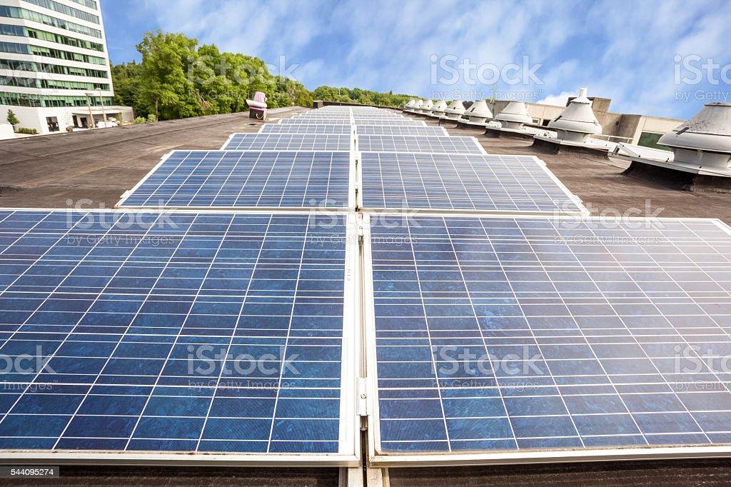 the solar panels stock photo