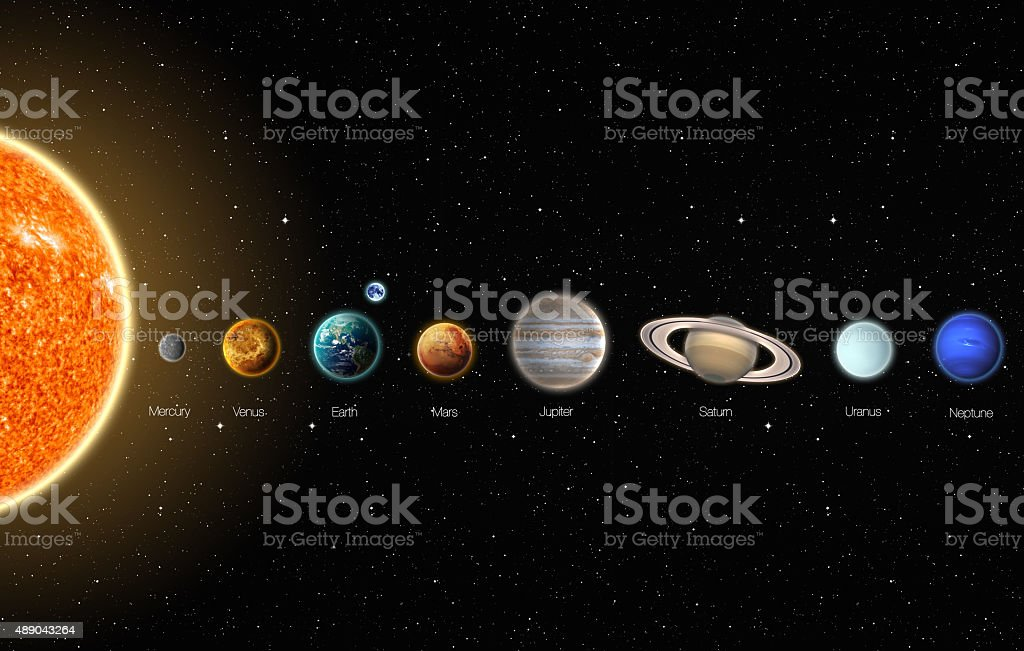 The Solar System stock photo