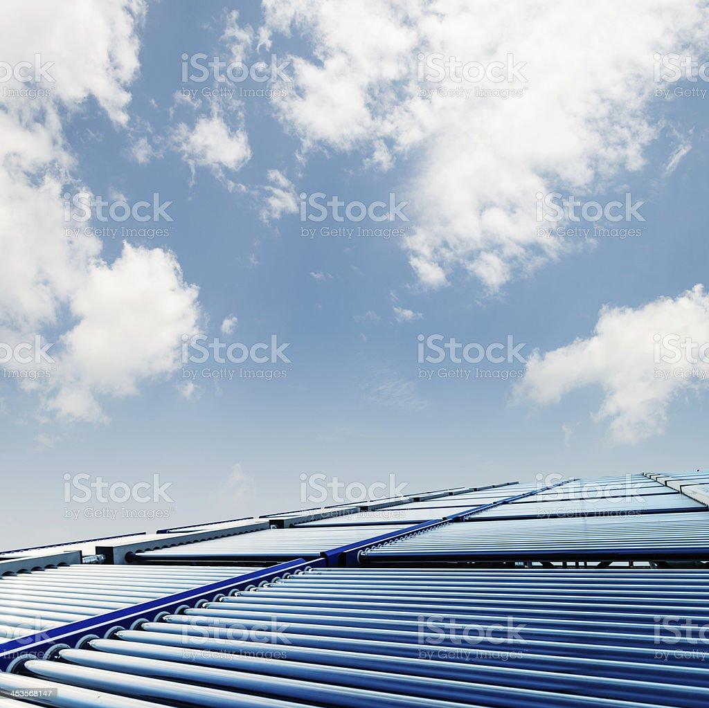 The solar water heater stock photo