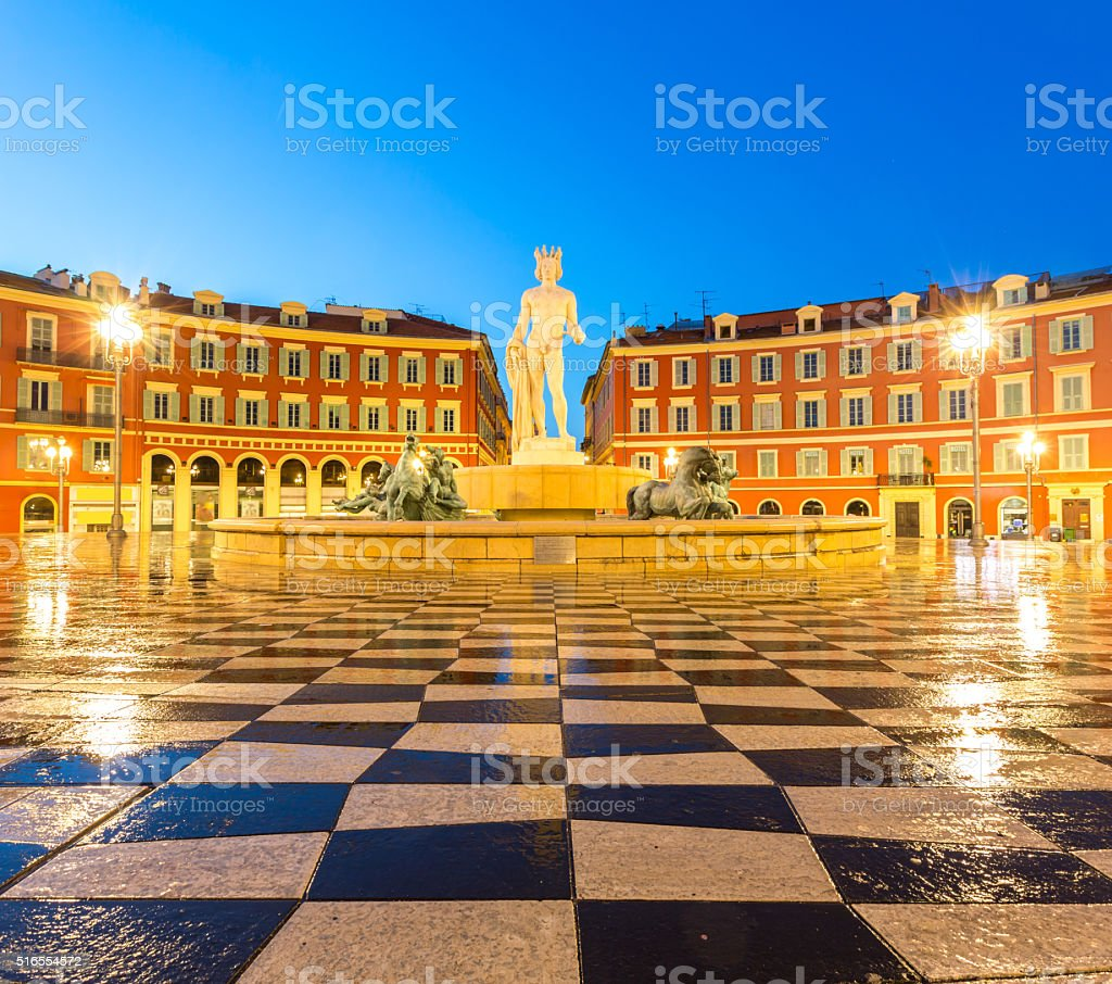 The Soleil Fountain Nice France stock photo