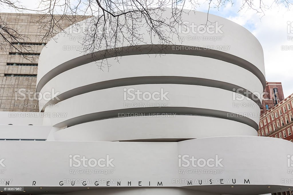 The Solomon R. Guggenheim Museum of modern and contemporary art. stock photo