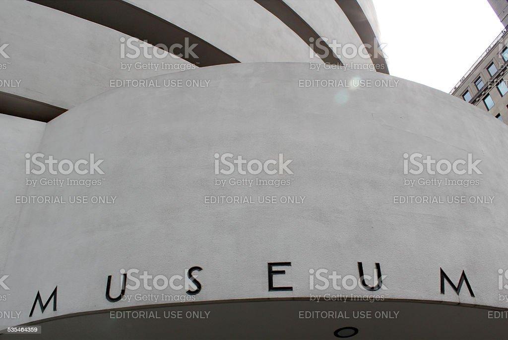 NEW YORK - SEPTEMBER 01: The Solomon R. Guggenheim Museum stock photo