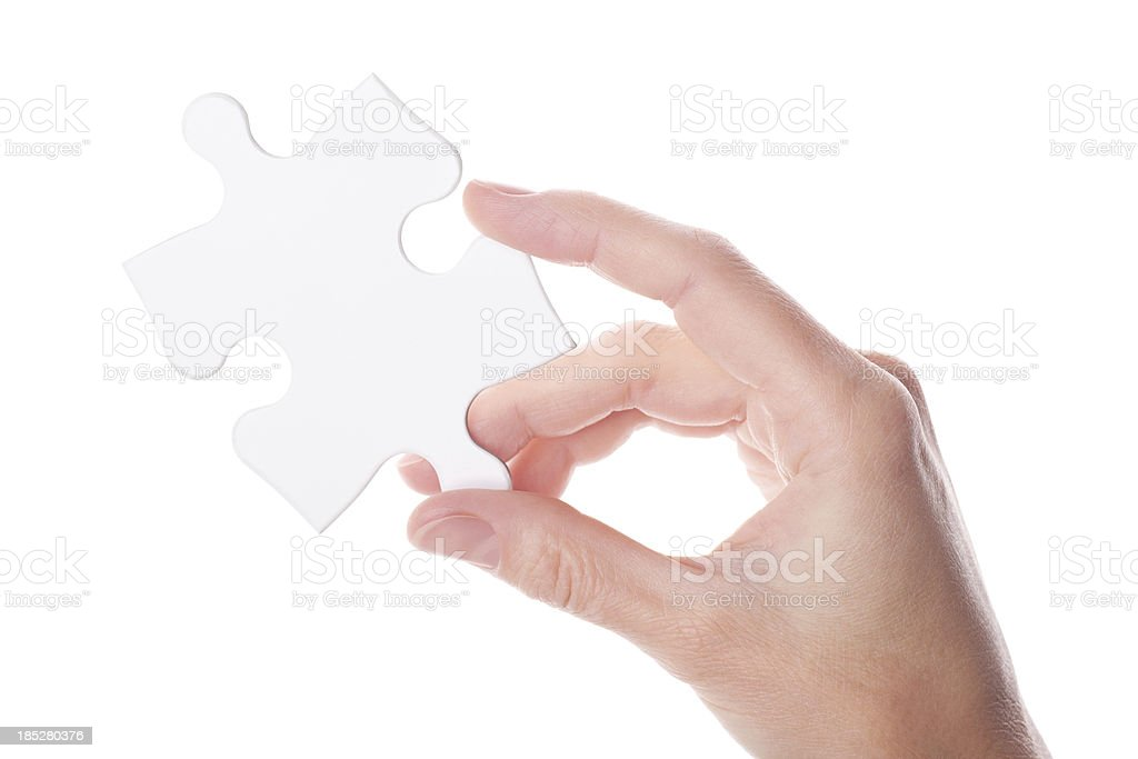 The Solution is at Your Fingertips stock photo